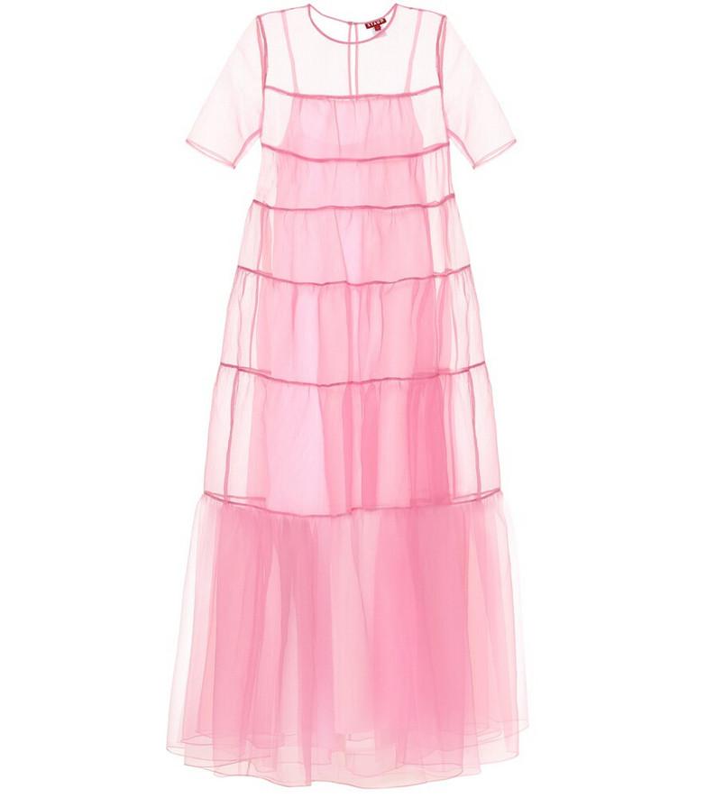Staud Hyacinth crêpe organza gown in pink