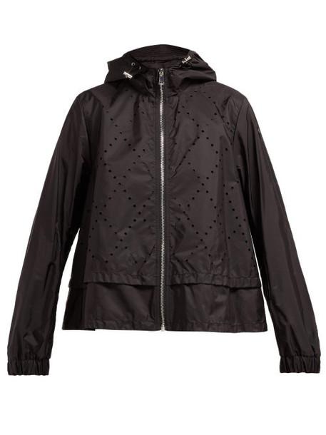 6 Moncler Noir Kei Ninomiya - Perforated Hooded Technical Jacket - Womens - Black