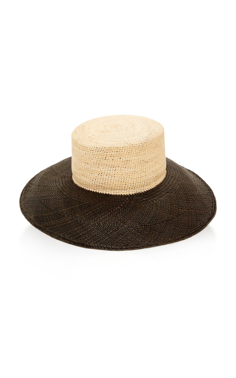 Janessa Leone Noemie Two-Tone Straw Hat in neutral