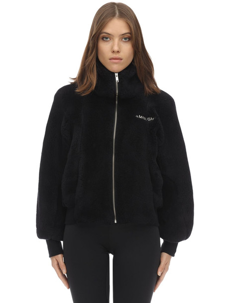 AMBUSH Faux Fur Jacket in black
