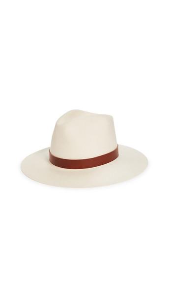 Janessa Leone Sable Hat in white