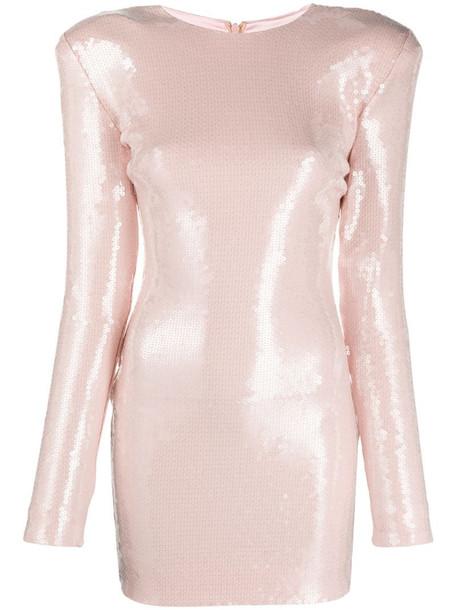 Alexandre Vauthier sequin-embellished mini dress in pink