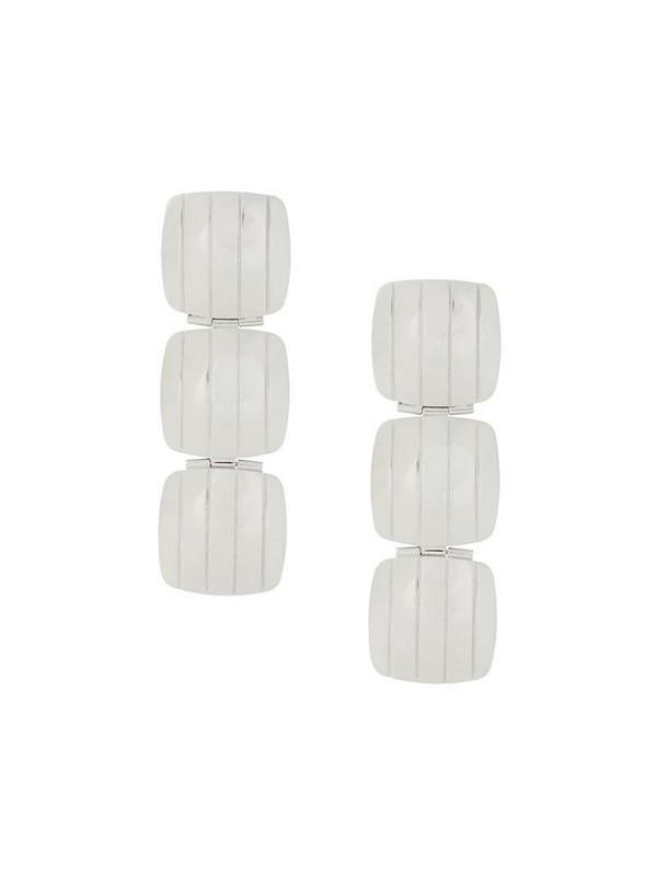 IVI Slot Clip drop earrings in silver