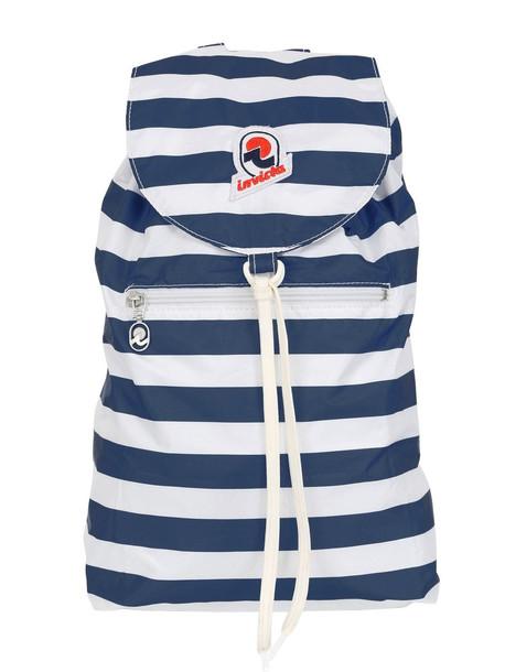 INVICTA Minisac Striped Backpack Nylon in blue / white