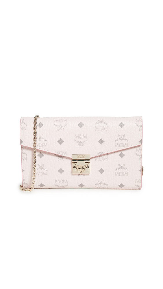 MCM Patricia Large Crossbody Wallet in pink