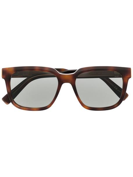 Dunhill square tortoiseshell sunglasses - Brown