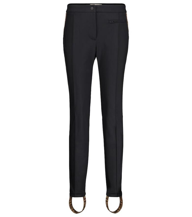 Fendi FF stirrup ski pants in black