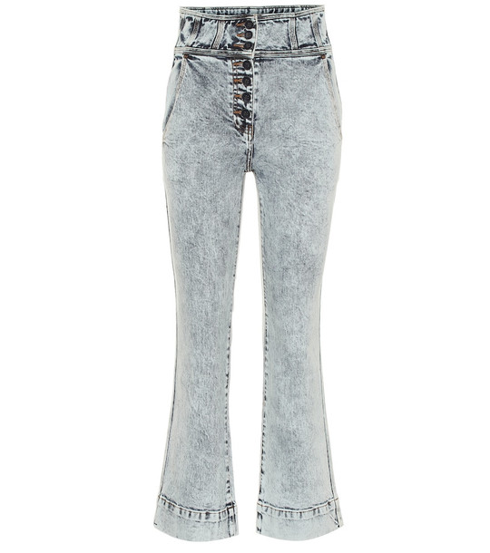 Ulla Johnson Ellis high-rise flared jeans in blue
