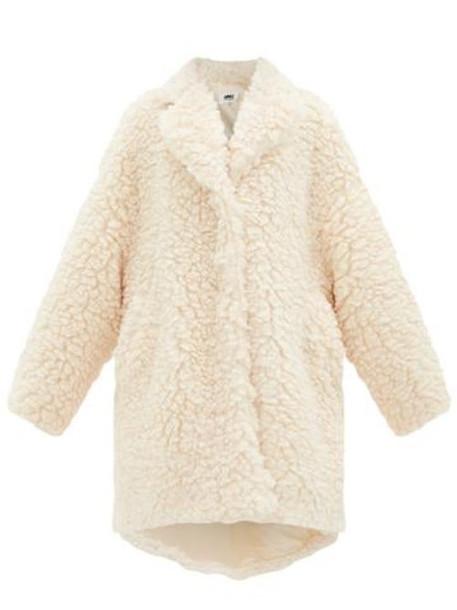 Mm6 Maison Margiela - Faux-shearling Cocoon Coat - Womens - Cream