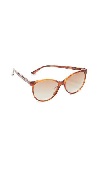 Gucci Web Cat Eye Sunglasses in brown