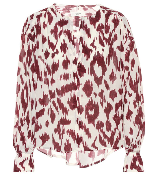 Isabel Marant, Étoile Yacah printed silk blouse in pink
