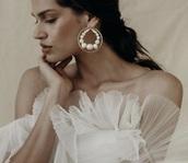 jewels,pearl,hoop earrings,wrapped pearl hoop earrings,wedding accessories,wedding