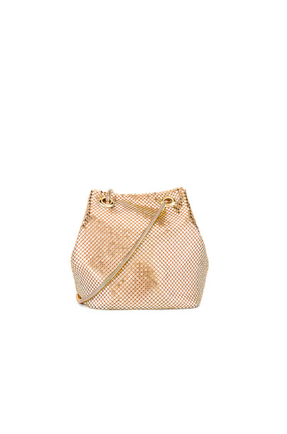 8 Other Reasons Mesh Satchel in gold / metallic