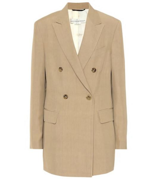 Golden Goose Deluxe Brand Valerie twill blazer in beige / beige