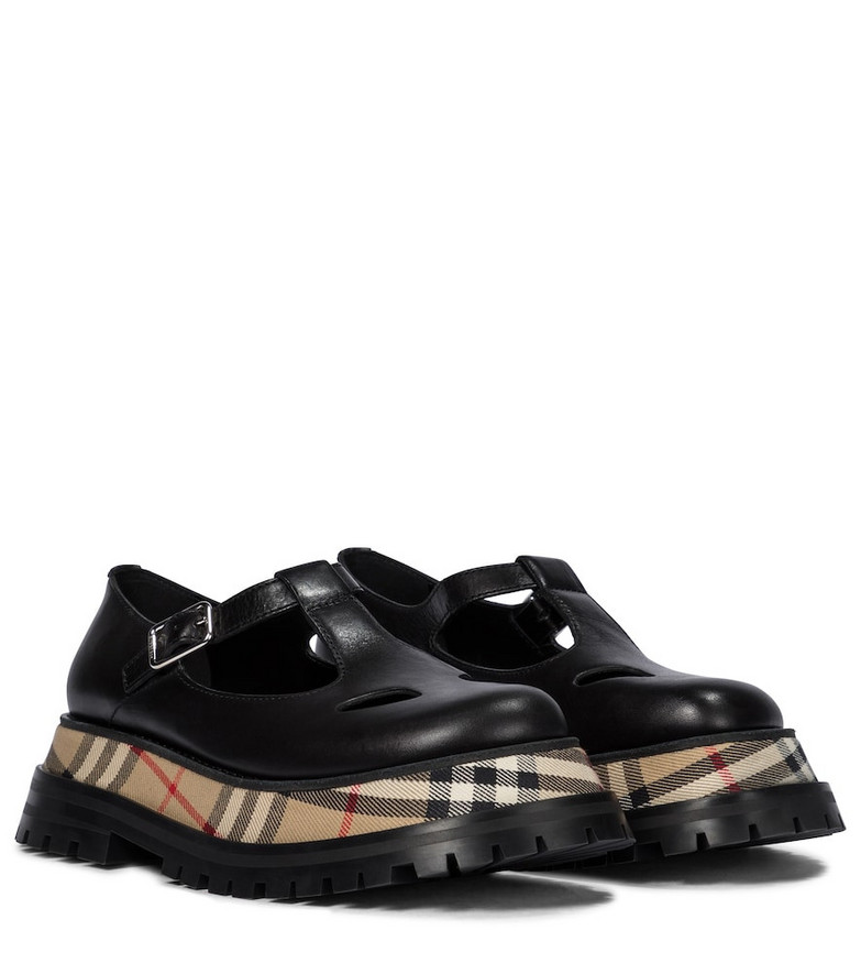 Burberry Aldwych leather Mary Jane loafers in black