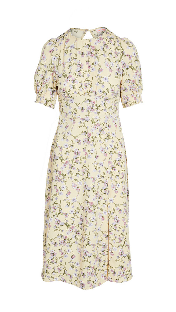 re:named re: named Allete Floral Midi Dress in yellow / multi