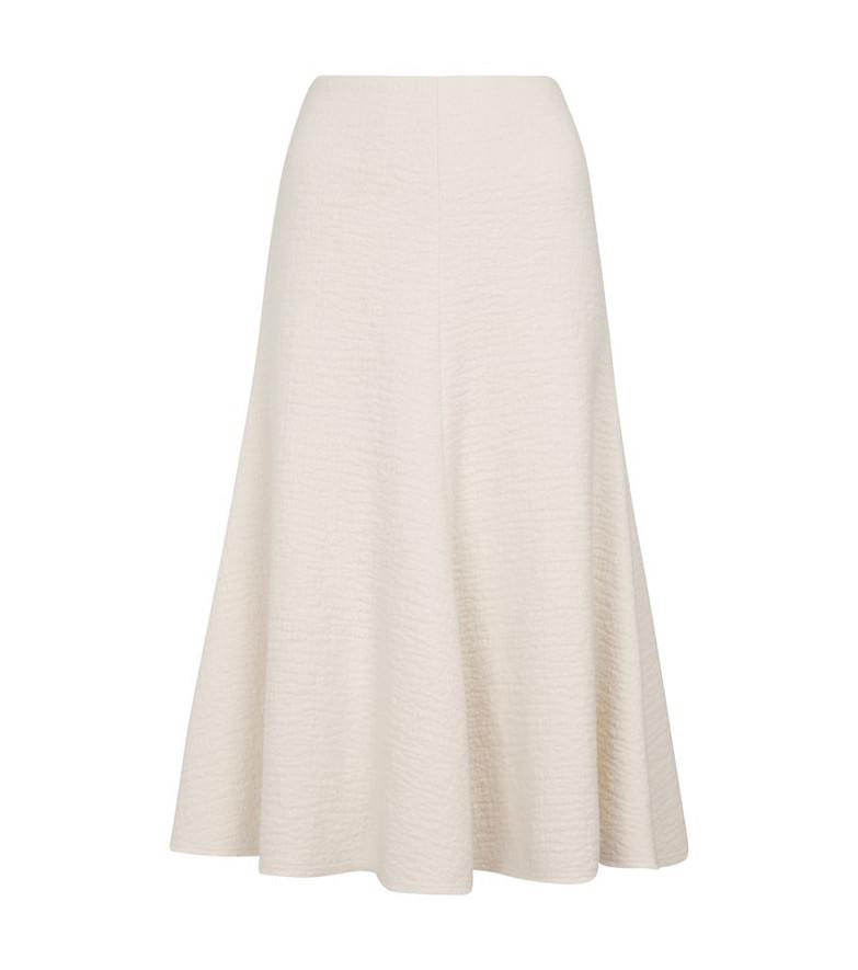 Chloé Felted wool midi skirt in white