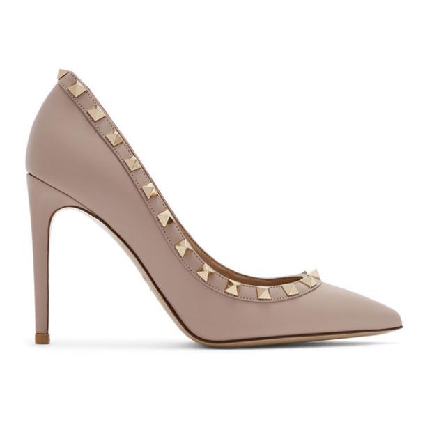 Valentino Pink Valentino Garavani Rockstud Heels
