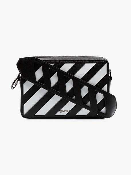 Off-White black and white diag leather belt bag