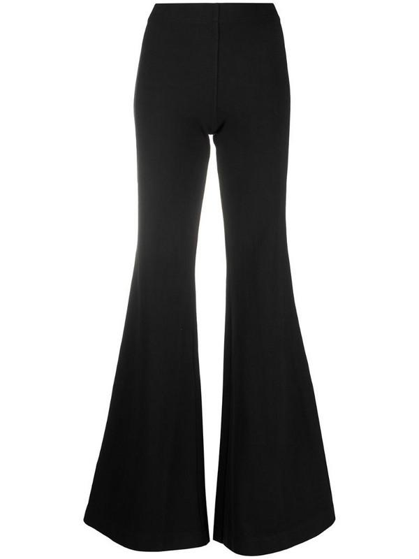 Andrea Ya'aqov wide leg cotton trousers in black