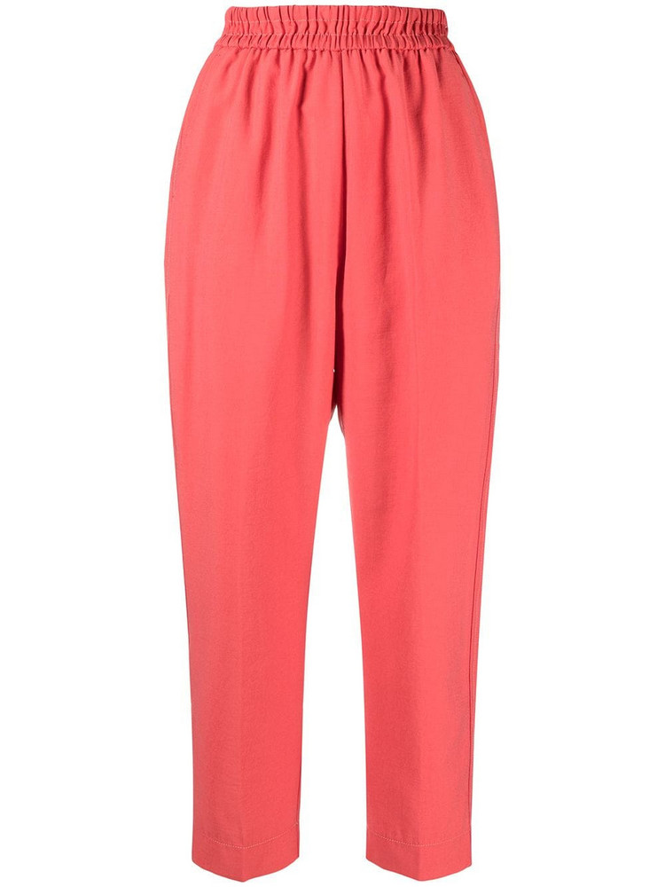 Forte Forte high-waisted tapered trousers in red