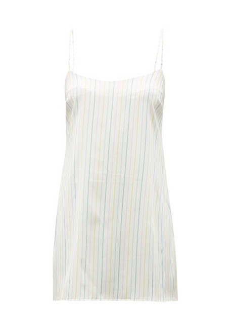 Fleur Of England - Happiness Striped Silk Blend Satin Nightdress - Womens - Multi Stripe