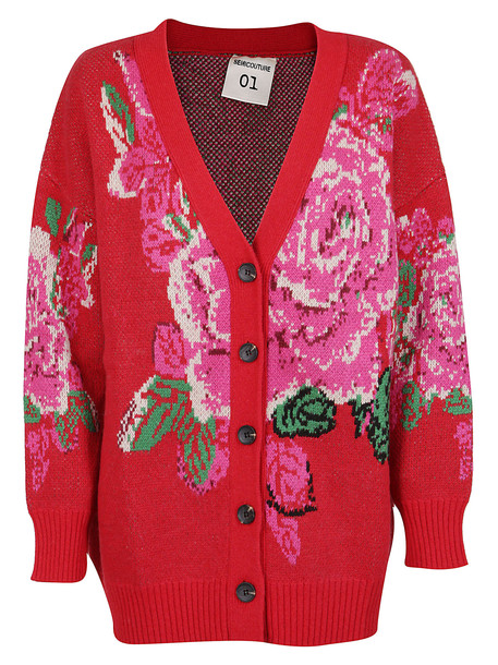SEMICOUTURE Cardigan in red