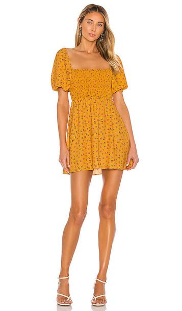 RESA Blake Mini Dress in Mustard