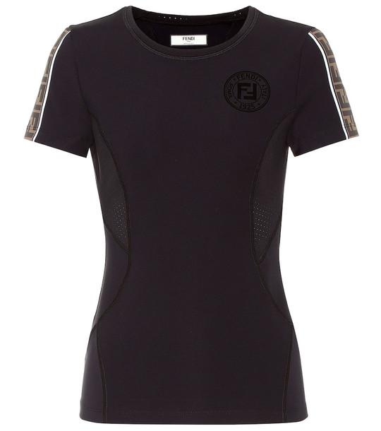 Fendi Technical jersey shirt in black