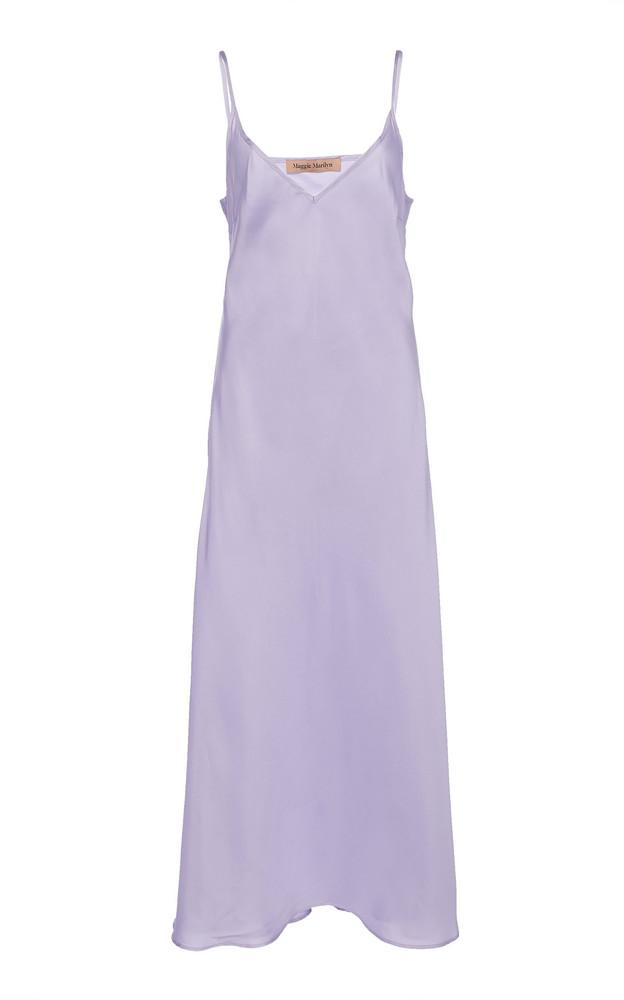 Maggie Marilyn Stand Tall Silk Midi Dress in purple
