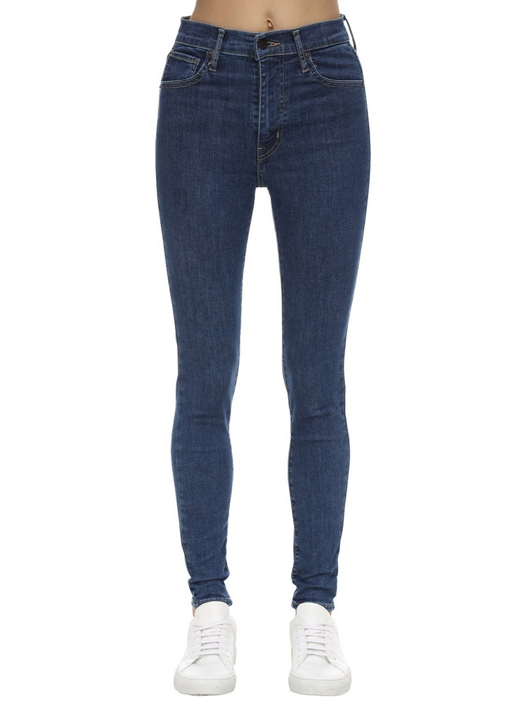 LEVI'S RED TAB High Rise Skinny Cotton Denim Jeans in blue
