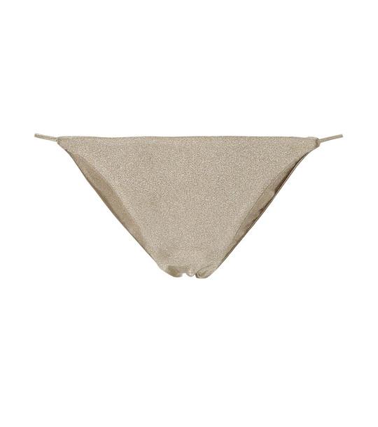 Jade Swim Micro Bare Minimum bikini bottoms in metallic