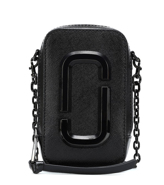 Marc Jacobs Hot Shot leather crossbody bag in black