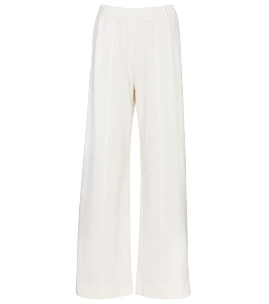 The Row Cesto cotton sweatpants in white