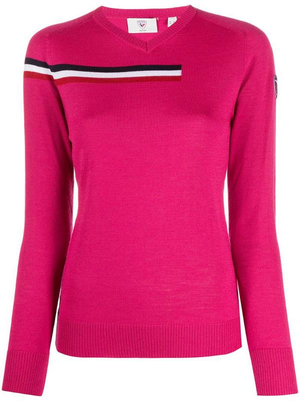 Rossignol Diago striped detail jumper in pink