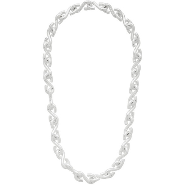 All Blues Silver S Necklace