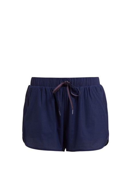The Upside - Track Perforated Running Shorts - Womens - Navy