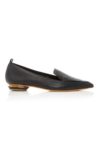 Nicholas Kirkwood Beya Leather Loafers Size: 39 in black