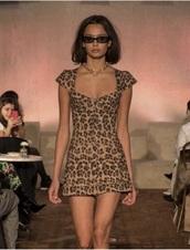 dress,leopard print,leopard print dress