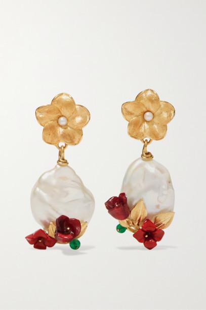 Of Rare Origin - Power Gold Vermeil Multi-stone Earrings