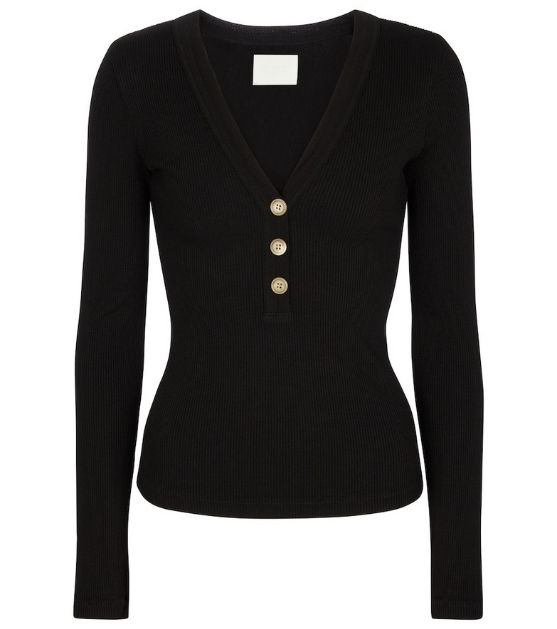 Citizens of Humanity Scarlett ribbed-knit sweater in black