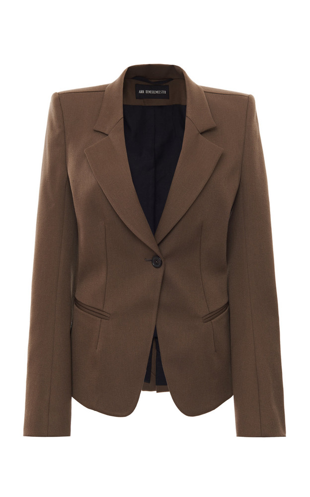 Ann Demeulemeester Single-Breasted Notched Blazer Size: 36 in brown
