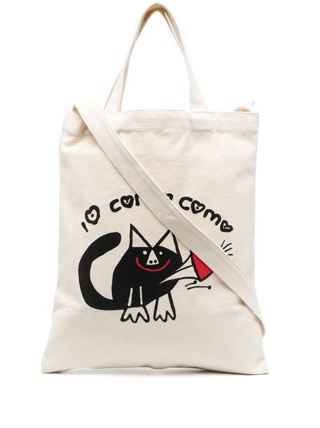 10 CORSO COMO logo-print padded tote bag in white