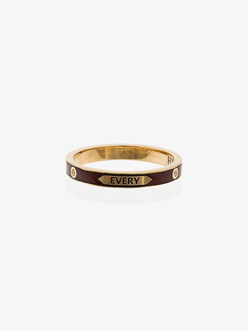 Foundrae with every breath thin band ring in metallic