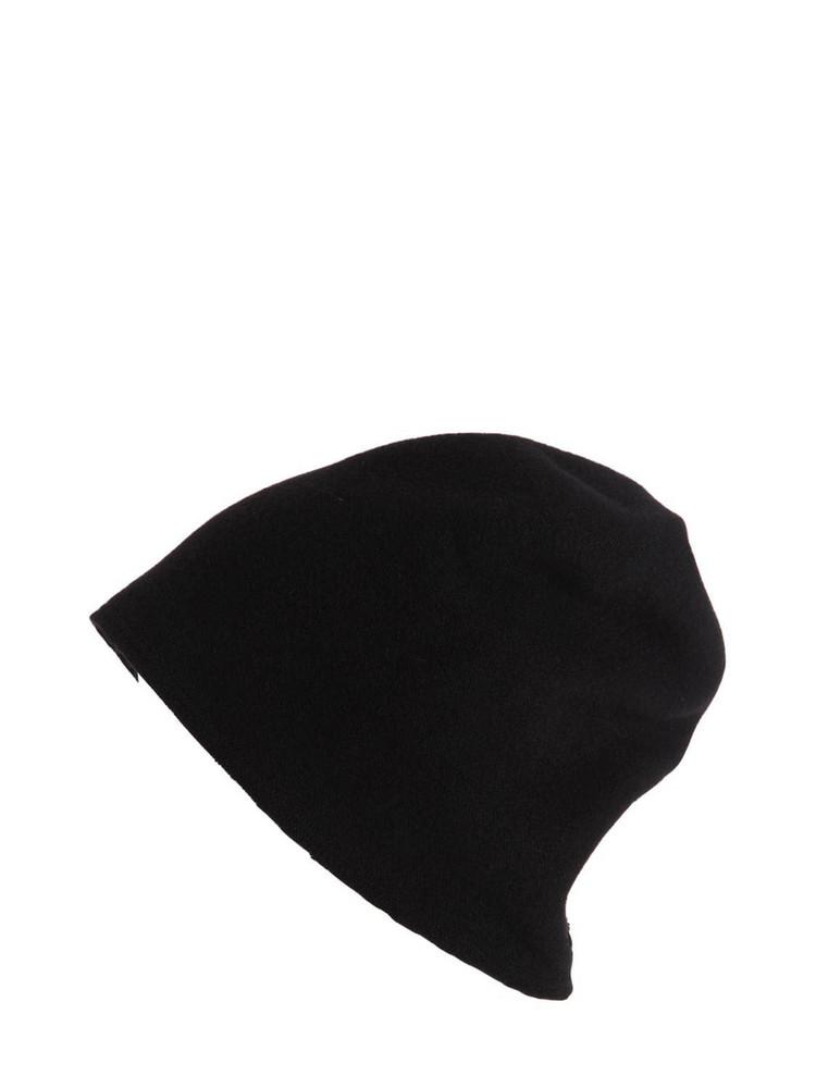 SCHA Taiga Zip Long Wool Beanie Hat in black