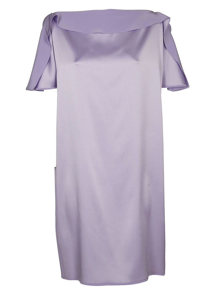 Gianluca Capannolo Long Short-sleeved Dress in lilac