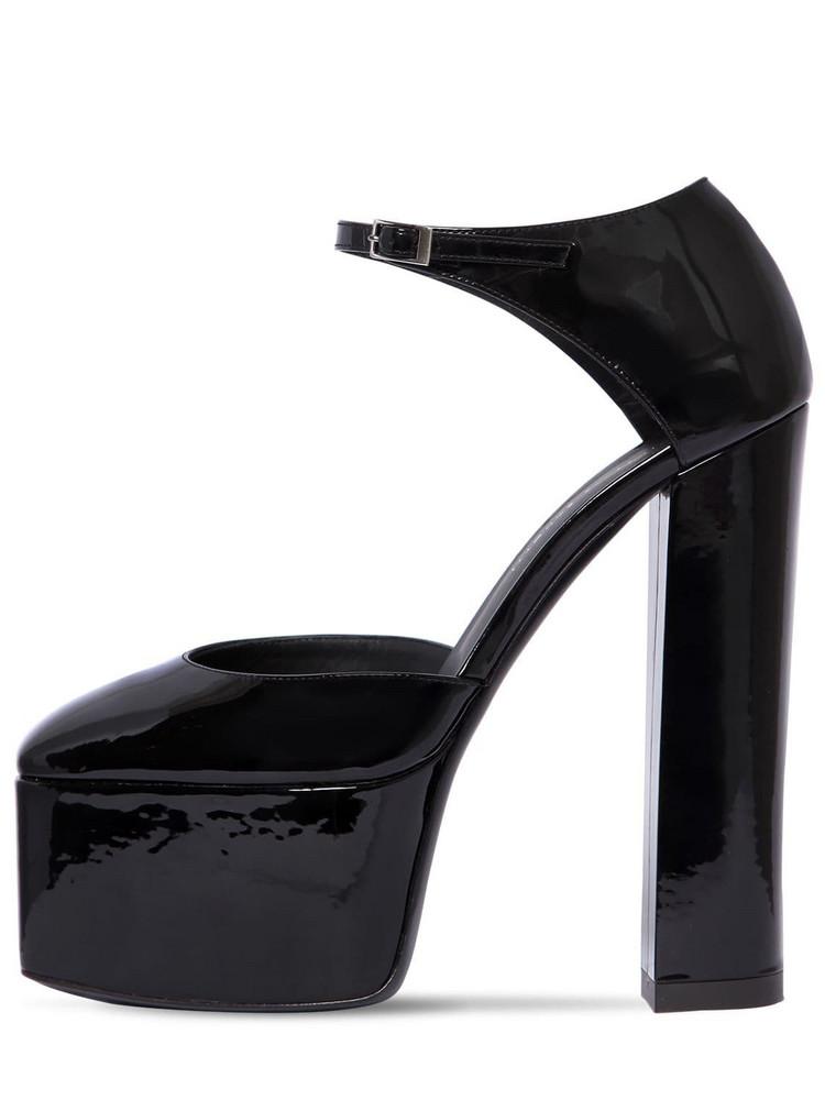 GIUSEPPE ZANOTTI DESIGN 150mm Patent Leather Platform Sandals in black