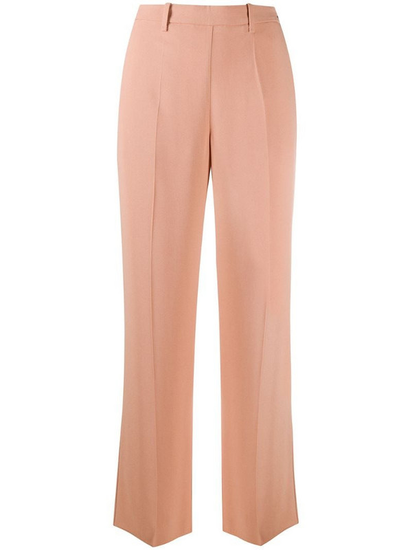 Forte Forte high-waisted straight leg trousers in pink