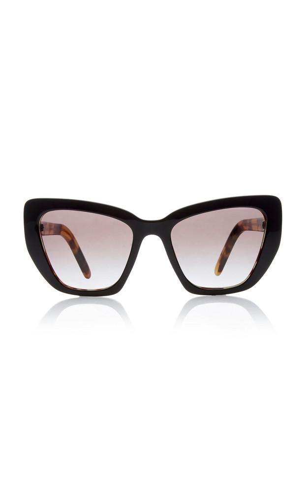 Prada Acetate Cat-Eye Sunglasses in black