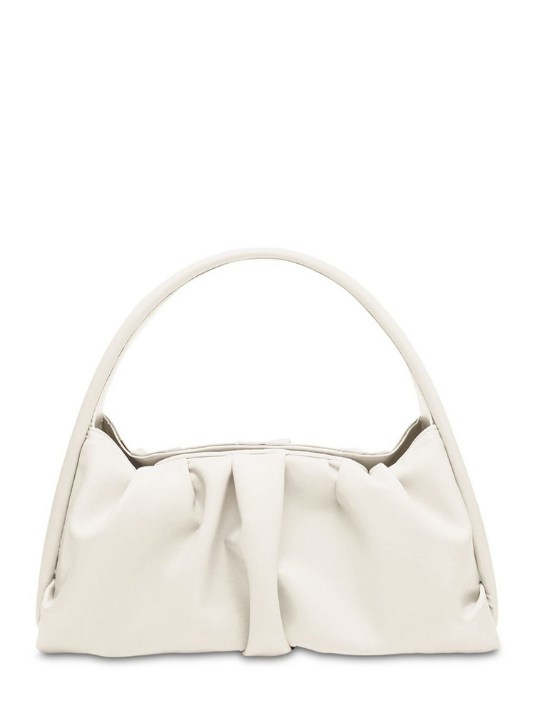 THEMOIRÈ Hera Faux Leather Shoulder Bag in ivory